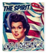 The Spirit Of America Fleece Blanket