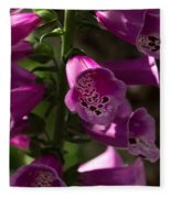 The Splendor Of Foxgloves Fleece Blanket