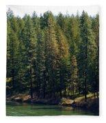 The Spokane River On Easter Sunday 2014 Fleece Blanket