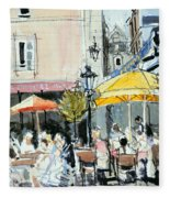 The Square At St. Malo Fleece Blanket