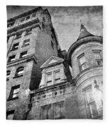 The Stafford Hotel - Grayscale Fleece Blanket