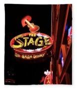 The Stage On Broadway In Nashville Fleece Blanket