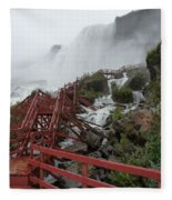 The Stairs To The Cave Of The Winds - Niagara Falls Fleece Blanket