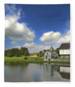 The Star Barn After The Storm Fleece Blanket
