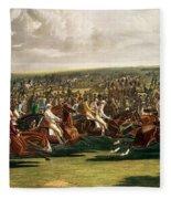 The Start Of The Memorable Derby Of 1844 Fleece Blanket