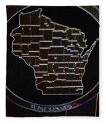 The State Of Wisconsin Fleece Blanket