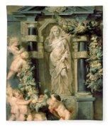 The Statue Of Ceres Fleece Blanket