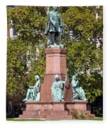 The Statue Of Istvan Szechenyi In Budapest Fleece Blanket