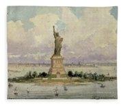 The Statue Of Liberty  Fleece Blanket