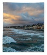 The Storm Clouds Roll In Fleece Blanket