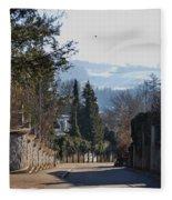 The Street In Upper Town 2 Fleece Blanket