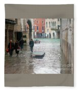 The Streets Of Venice Fleece Blanket