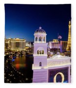 the Strip Las Vegas Fleece Blanket