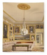 The Striped Drawing Room, Apsley House Fleece Blanket