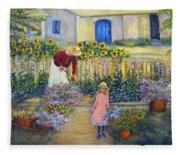 The Summer Garden Fleece Blanket