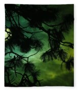 The Sun And Clouds Fleece Blanket