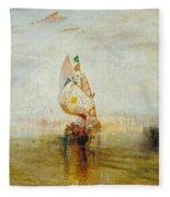 The Sun Of Venice Going To Sea Fleece Blanket