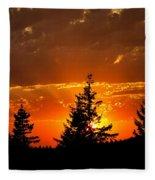 The Sun Retreats Fleece Blanket