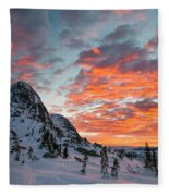The Sun Rises, Illuminating The Sky Fleece Blanket
