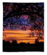The Sun Sets For Mike Fleece Blanket