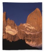 The Sunrise Of Fire Mt Fitzroy Fleece Blanket