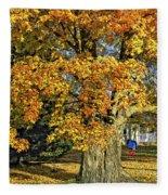 The Swinging Tree Fleece Blanket