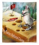 The Swiss National Course Fleece Blanket