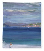 The Tail Of Mull From Iona Fleece Blanket
