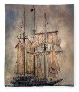 The Tall Ship Peacemaker Fleece Blanket