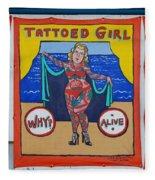 The Tattoed Girl Fleece Blanket