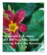 The Temple Bell Fleece Blanket