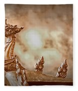 The Temple Dragon Fleece Blanket