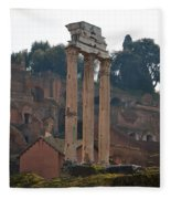 The Temple Of Castor And Pollux Fleece Blanket