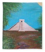 The Temple Of Kukulcan Fleece Blanket