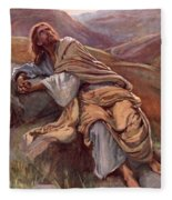 The Temptation Of Christ Fleece Blanket