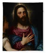 The Temptation Of Christ Fleece Blanket