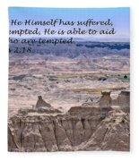 The Temptation Of Jesus Hebrews 2 18 Fleece Blanket