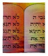 The Ten Commandments - Featured In Comfortable Art Group Fleece Blanket