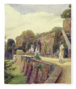 The Terrace At Berkeley Castle Fleece Blanket