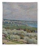 The Terrace At Saint Germain Fleece Blanket