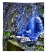 The Thawing Falls Fleece Blanket