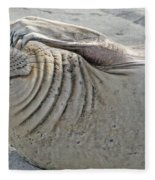 The Thinker - Elephant Seal On The Beach Fleece Blanket
