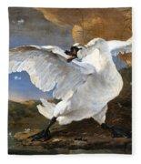 The Threatened Swan Fleece Blanket