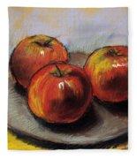 The Three Apples Fleece Blanket