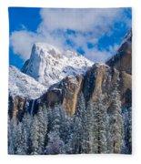 Cathederal Rocks And Bridalveil Fleece Blanket