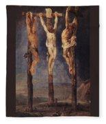 The Three Crosses Fleece Blanket