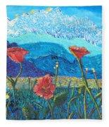 The Three Poppies Fleece Blanket