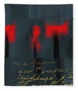 The Three Trees - J22206237a Fleece Blanket
