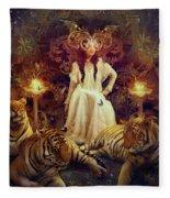 The Tiger Temple Fleece Blanket