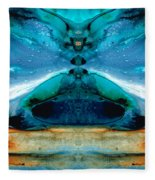 The Time Traveler - Surreal Fantasy Art By Sharon Cummings Fleece Blanket
